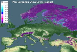 Pan-European Fractional Snow Cover Map